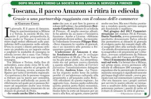 Toscana, il pacco Amazon si ritira in edicola