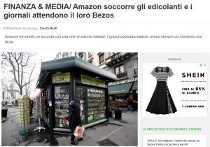 FINANZA & MEDIA/ Amazon soccorre gli edicolanti e i giornali attendono il loro Bezos