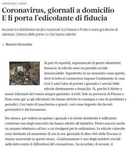 Coronavirus, giornali a domicilio E li porta l'edicolante di fiducia