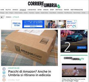 Pacchi di Amazon? Anche in Umbria si ritirano in edicola