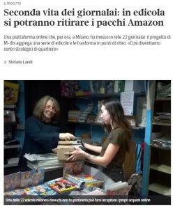 Seconda vita dei giornalai: in edicola si potranno ritirare i pacchi Amazon