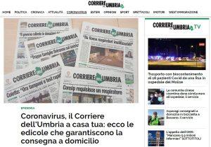 Coronavirus, il Corriere dell'Umbria a casa tua: ecco le edicole che garantiscono la consegna a domicilio