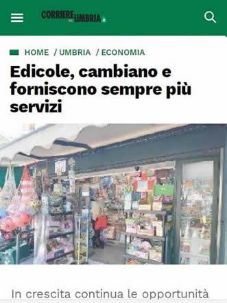 Corriere dell'Umbria - Edicole cambiano e offrono sempre più servizi